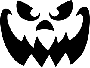 evil face pumpkin template - halloween last time ostatni raz